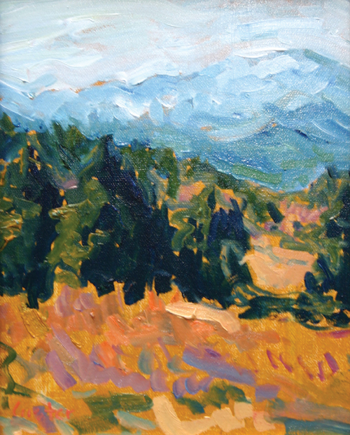 Garden View of the Peak, Greg Custer